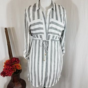 NWT Love Notes Shirt Dress Size L